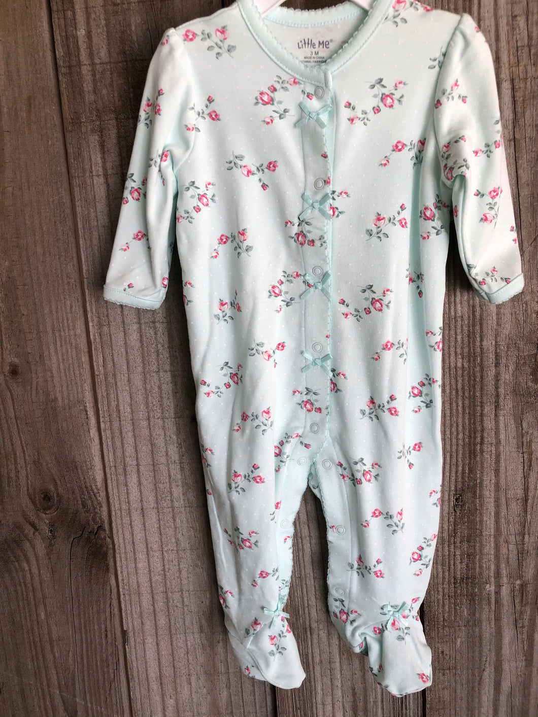 Floral Mint Footie