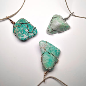 Amazonite Tumbled Necklace Wrap! (Grade AA+)