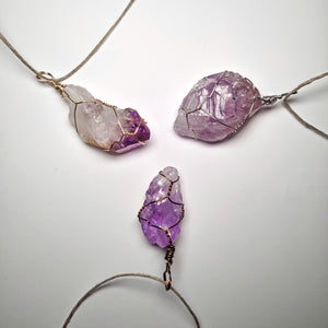 Amethyst Crystal Necklace Wrap!
