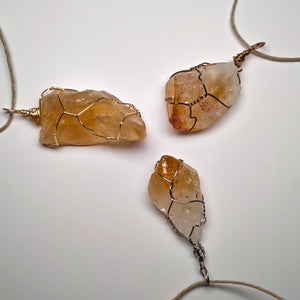 Citrine Crystal Necklace Wrap!