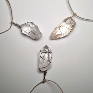 Pure Clear Quartz Crystal Necklace!