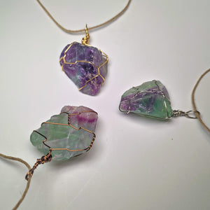 Fluorite Crystal Necklace Wrap! (Grade A+)