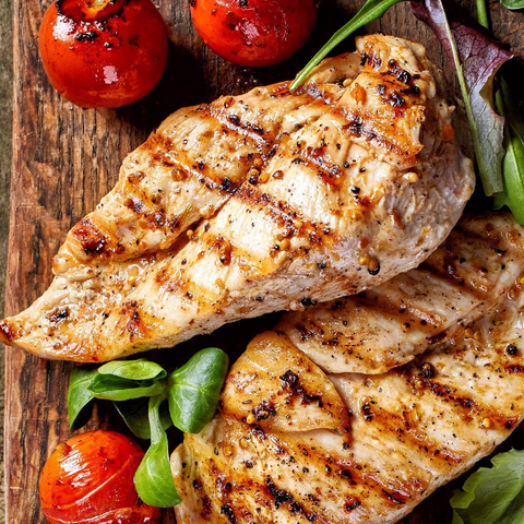 Garlic & Herb Chicken Breast, All Natural (9 x 4 Oz = 2.25 Lbs Total)