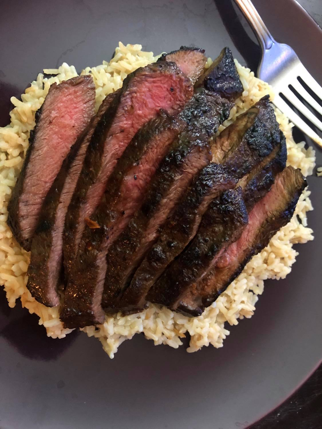 Flank Steaks USDA All Natural (10 x 7/8Oz = 4.375Lbs Total)