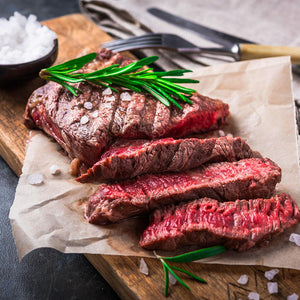 Skirt Steaks USDA All Natural (10 x 7/8Oz = 4.375Lbs Total)