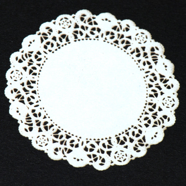 "DOILIES-Round- white -4"",6"",8"" or 12"""