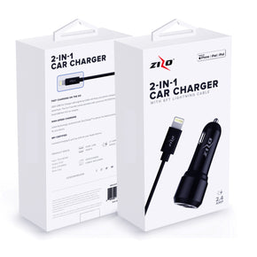 Zizo 2 in 1  iPhone, iPad, and iPod Car Charger