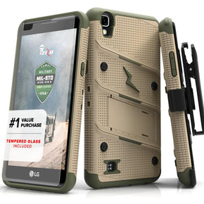 For LG X Power K210 - Hybrid Bolt Case Cover
