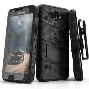 Samsung Galaxy J3 Emerge Hybrid Bolt Case Cover