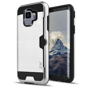 Samsung Galaxy S9 Hybrid Brushed Card Holder Case Cover