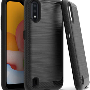 Samsung Galaxy A01 Brushed Hybrid Case Cover