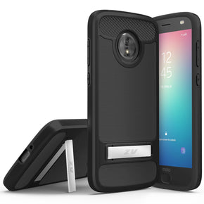 Motorola E5 Play TPU Kickstand Case Cover