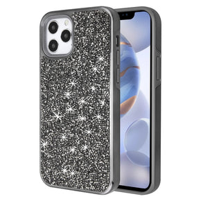 Apple iPhone 12/ 12 Pro (6.1)  Hybrid Encrusted Rhinestones