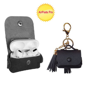 AirPods Pro Leather Case Pouch With Tassel