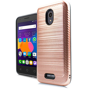 Alcatel Verso Hybrid Brushed Case Cover