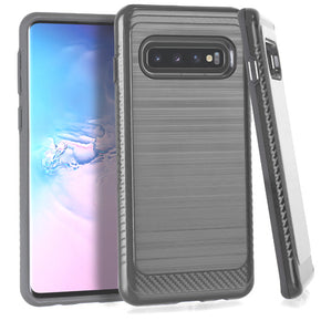 Samsung Galaxy S10 Brushed Hybrid Case Cover