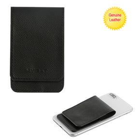 Universal Genuine Leather Flip Adhesive Card Pouch
