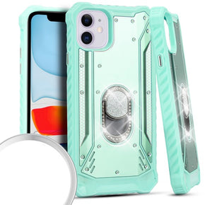 Apple iPhone 11 Magnetic Hybrid Ring Diamond Case Cover