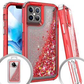 Apple iPhone 12/Pro Heavy Duty Glitter Motion Case Cover