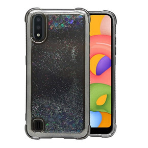 Samsung Galaxy A01 Hybrid Glitter Motion Case Cover