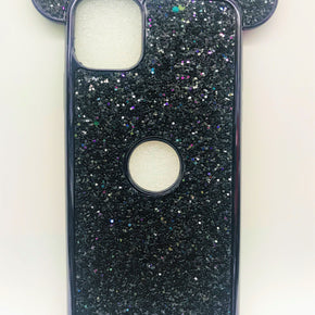 Apple iPhone 11 Pro Max Teddy Bear Ears Glitter Case Cover