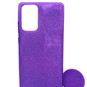 Samsung Galaxy Note 20 Plus Glitter Silicone Cover with POP Stand