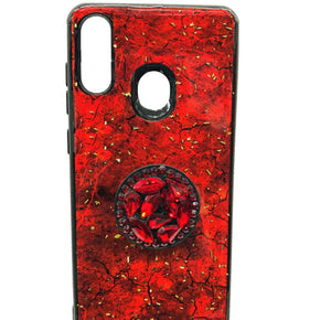 Motorola Moto E7  Luxury Marble Glass Case Cover