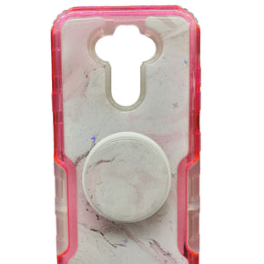 LG Aristo 5 Heavy Duty Marble Design Stand Case Cover