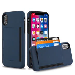 Apple iPhone XS/X Hybrid Card Case Cover