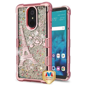 LG Stylo 4 Glitter TPU Design Case Cover