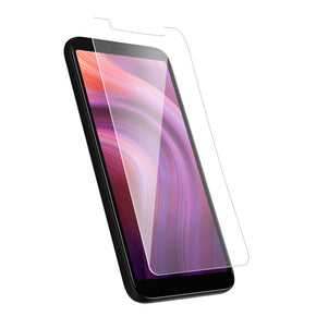 Alcatel 3V Clear Case Friendly Tempered Glass