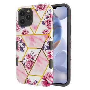 Apple iPhone 12/ 12 Pro (6.1) Hybrid Marble Design Case Cover