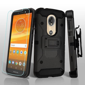 Motorola E5 Plus Holster Combo Clip Case Cover