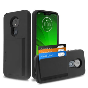 Motorola Moto G7 Power Hybrid Card Holder Case Cover