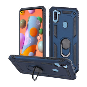 Samsung Galaxy A11 Hybrid Ring Stand Case Cover