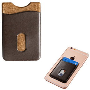 Brown Leather Adhesive Card Pouch