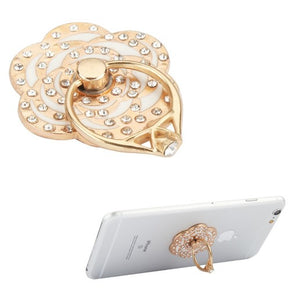 Universal Diamond Flower Design Ring Holder