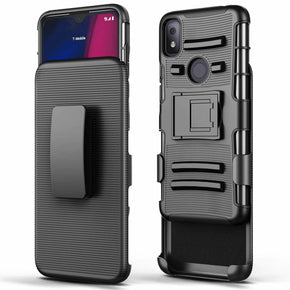 REVVL 4 Heavy Duty TPU Holster Kickstand Case Cover