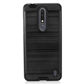 Nokia 3.1 Plus Brush Hybrid Case Cover