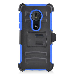 Motorola G6 Play Hybrid Holster Clip Case Cover