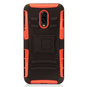 One Plus 6T Hybrid Holster Combo Clip Case Cover