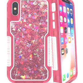 Apple iPhone Xs Max Hybrid Glitter Motion  Case Cover