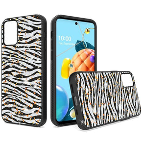 LG K53 Gold Speck Animal Print Design Case Cover