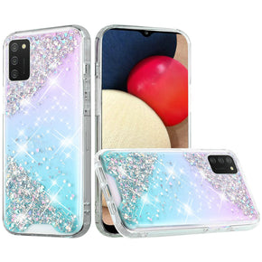 Samsung Galaxy A02s Vogue Glitter Hybrid Design Case Cover