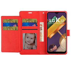 LG K22 / K32 Wallet Tri-Fold Credit Card Cover