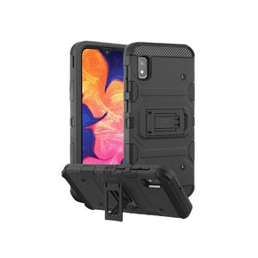 Samsung Galaxy A10E Hybrid Case Cover With Kickstand