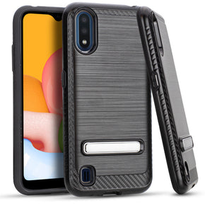 Samsung A01 Brushed Hybrid Kickstand Case Cover