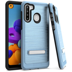 Samsung Galaxy A21 Brushed Hybrid Case Cover