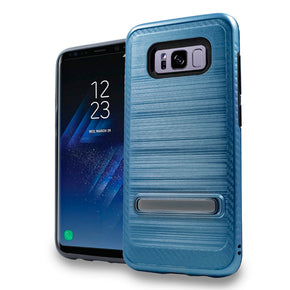 Samsung Galaxy S8 Hybrid Brushed Kickstand Case Cover