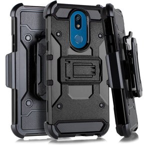 LG K40 Hybrid Heavy Duty Holster Case Cover